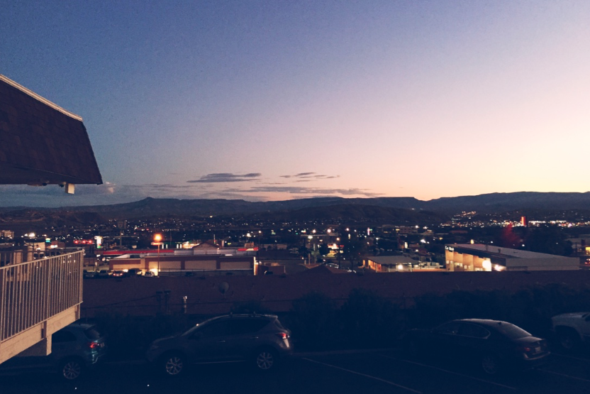 The view of St. George from the hotel.