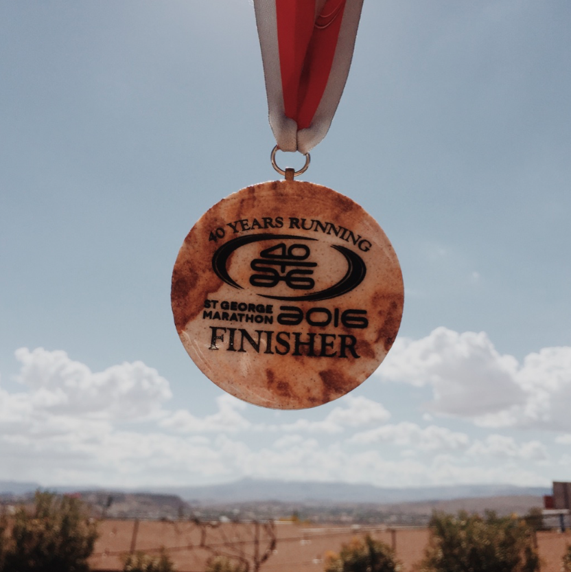 How cool is this medal? Each one is made from sandstone so they're all unique and different.