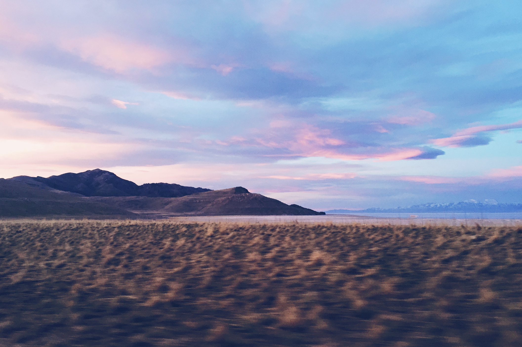 We rolled into Antelope Island right at sunrise.
