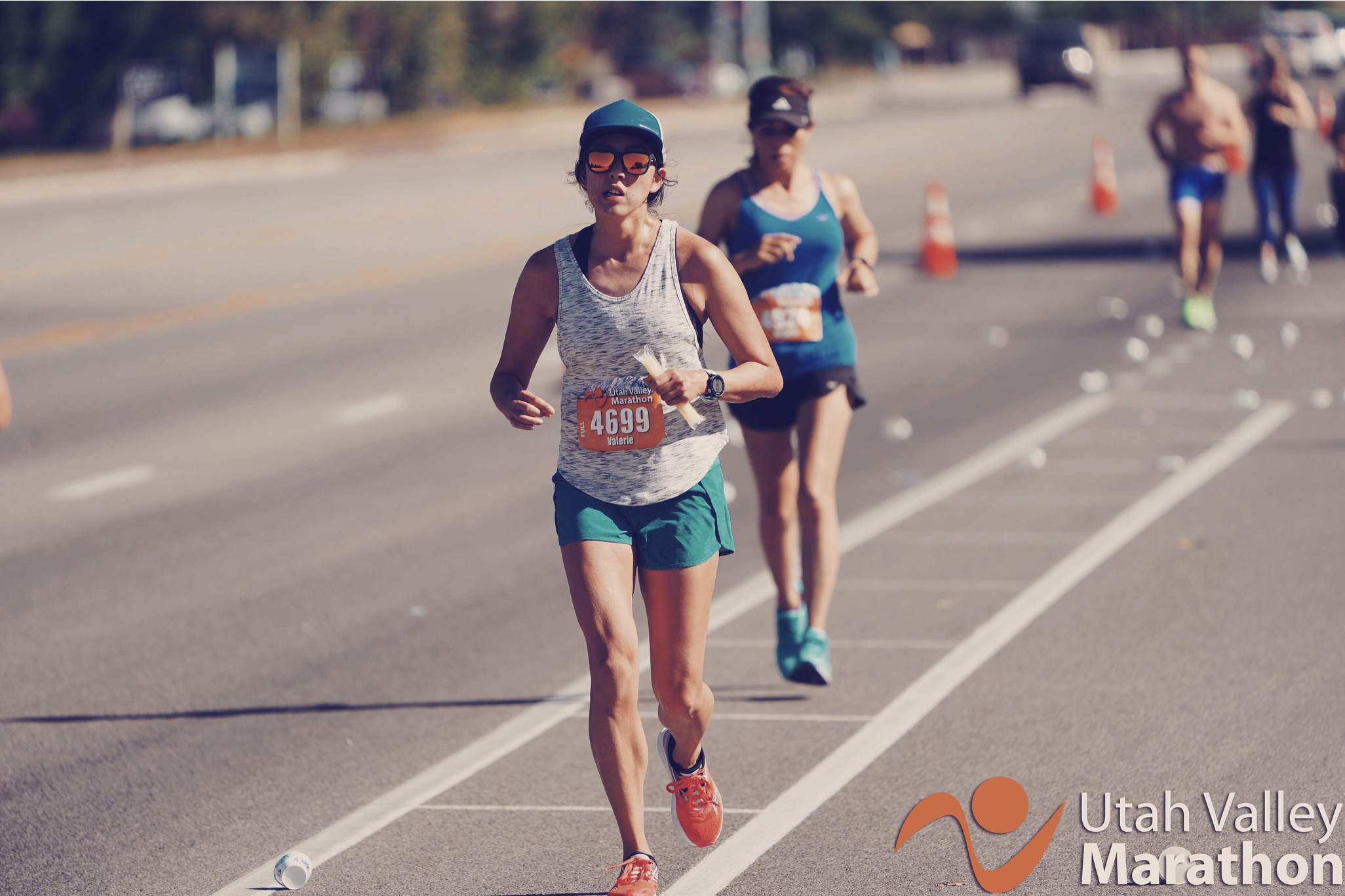 23 miles in—smelling of campfire, covered in salt, chewing on a grape otter pop. Photo: Utah Valley Marathon