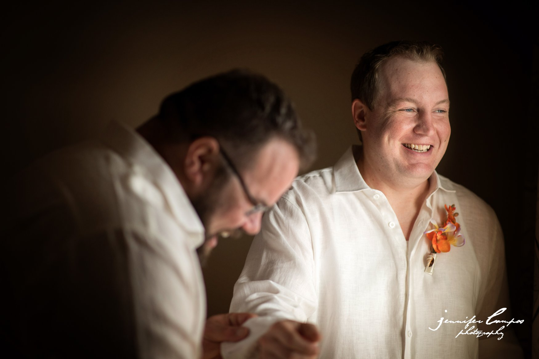 Groom Prep … Having fun while getting ready for his big day.