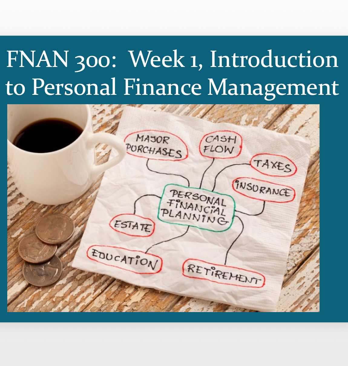 The students learned personal finance management by applying the concepts we learned in class to their daily lives.