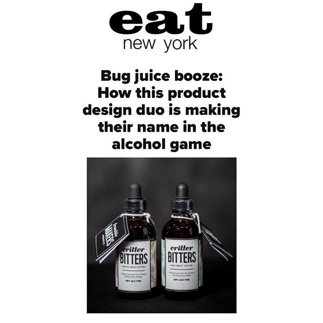 We're thrilled for Critter Bitters to be featured in Eat New York! Check out the link in bio. 🐝🕷🍹🗽