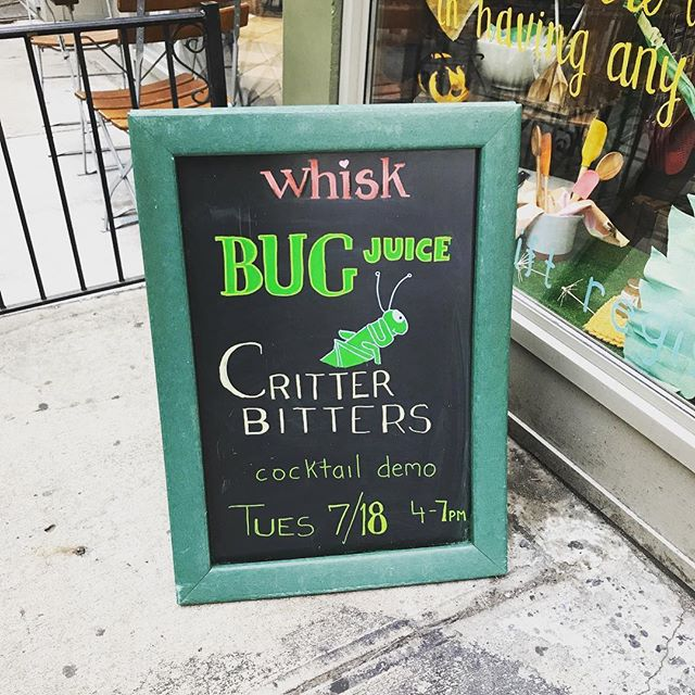We'll be slinging Critter Bitters cocktails and cookies today at Whisk Manhattan. Come say hi!