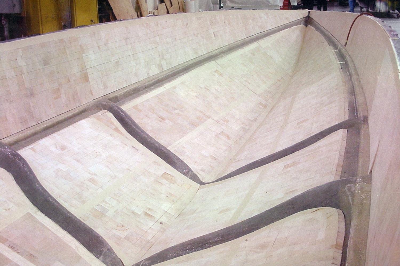 Hand laid composite vinylester balsa wood