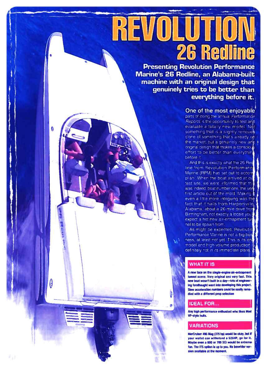 Read about one of the first test of the RPM 26 Redline done by Hot Boat Magazine in 2007