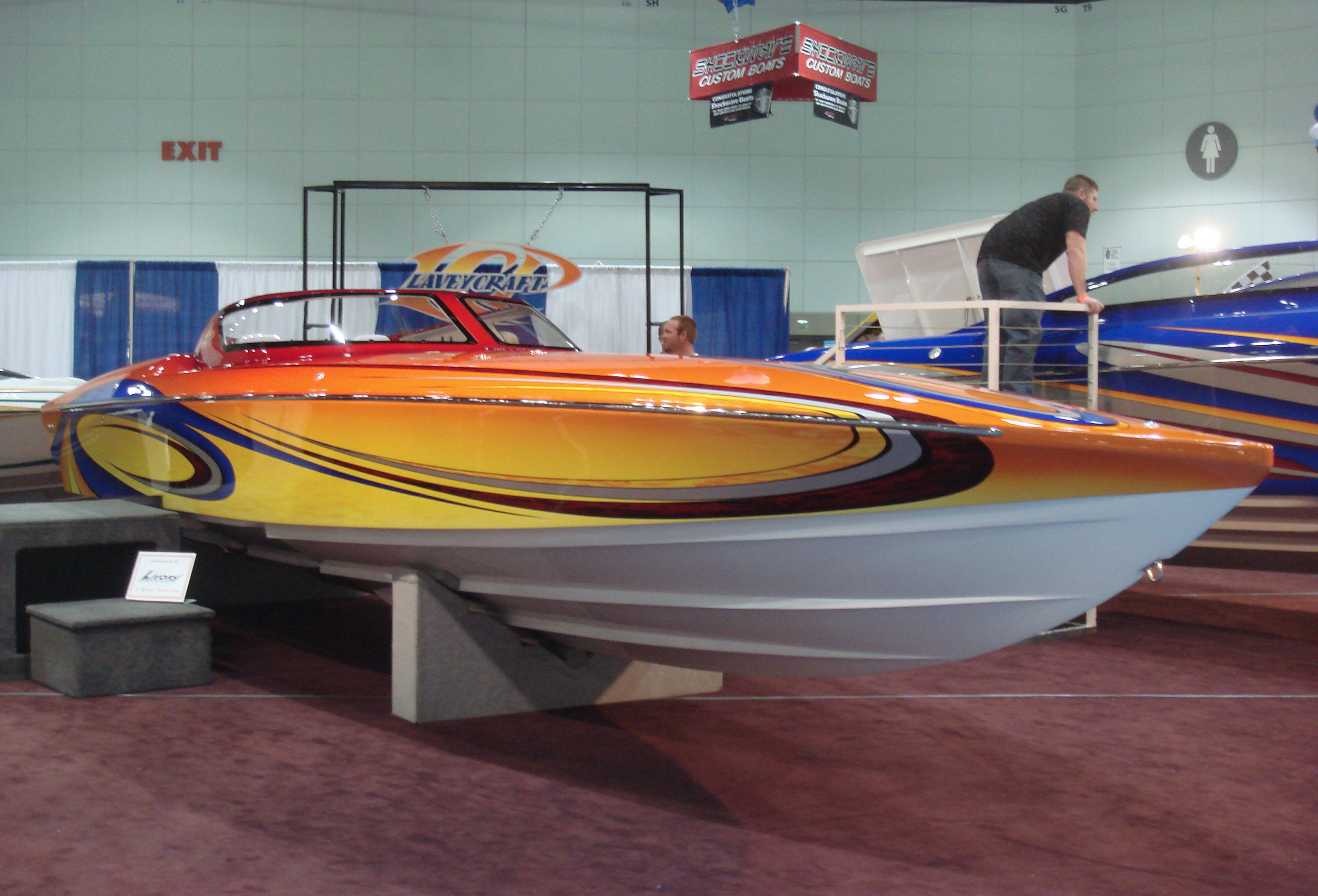 28 Evo Lavey Craft - carbon fiber at boat show.jpg