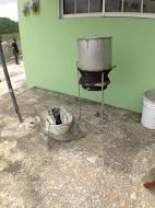 We then go into the extraction phase, where we transfer the paste into boiling water.