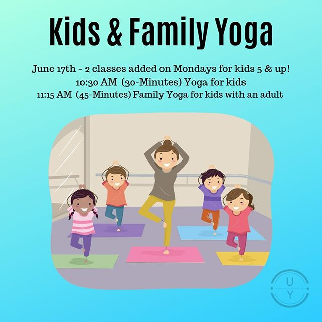 Starting June 17th, every Monday in the summer we will have Kids & Kids and Family Yoga! . Kids who do Yoga can experience the same benefits as adults, for example: increased coordination, flexibility, and strength; increased confidence and self-esteem; and the ability to calm their bodies and minds. . Bring your kids 5-years old and up (contact us for younger kiddos) to enjoy a 30-minute flow designed just for them. They will learn about meditation, breathing techniques, and the foundation of Yoga poses. . We are also offering a family class where adults can flow with their kids. Not only do you get the same benefits as mentioned above, you also get to have fun and build a deeper connection with your children! This class is also for kids 5-years and up and the adults in their lives (parents, grandparents, older siblings, aunts, uncles, or anyone else that wants to join!). . Cost: Kids $10, siblings $5, adults $20, and members are FREE! . Contact us with questions and to get registered ASAP! . #uprisecos #littleyogis #kidsyoga #coloradospringsyoga #familyyoga #calmmind #connectwithkids #fitfamilies #familieswhoworkout #kidswhoexercise #getfit #practicebetter #summerbreak #thingstodoinsummer #coloradosprings #coloradospringsevents #yogafoundation #beginneryoga