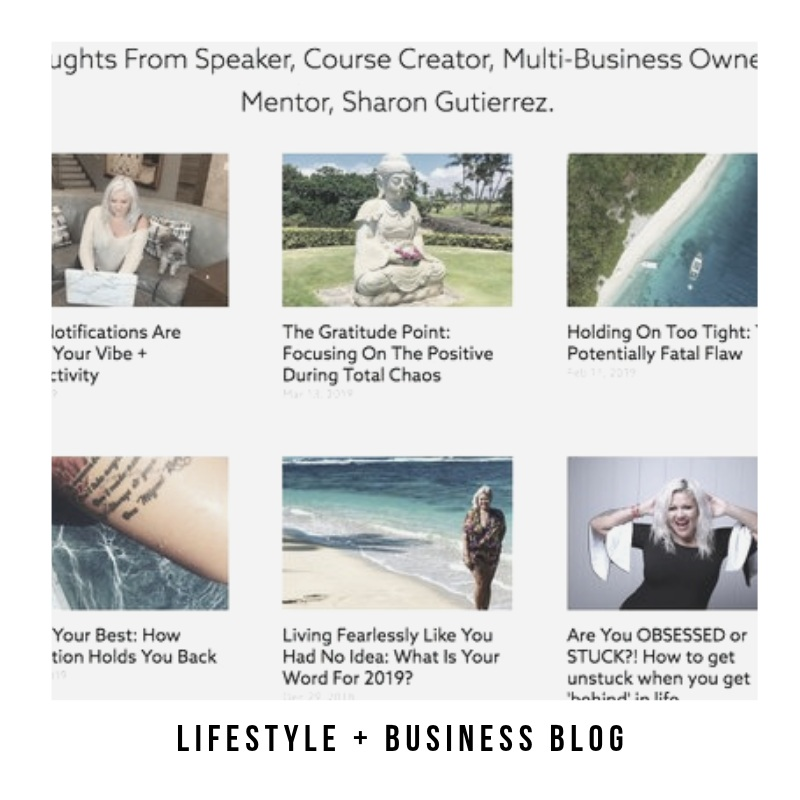 Articles On Business & Life, Compliments Of Sharon Gutierrez -