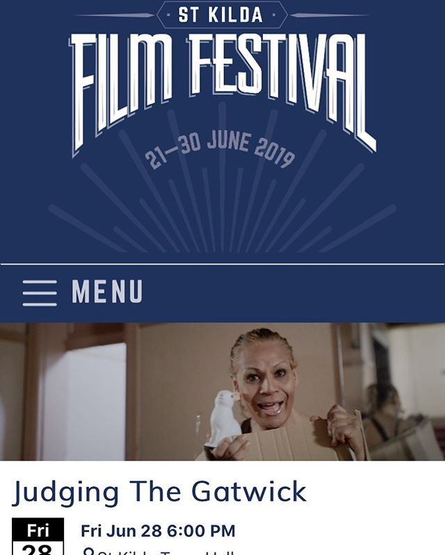 I directed a new film and the premiere is tonight at @stkildafilmfest at 6pm in Melbourne! It's called 'Judging The Gatwick' :)