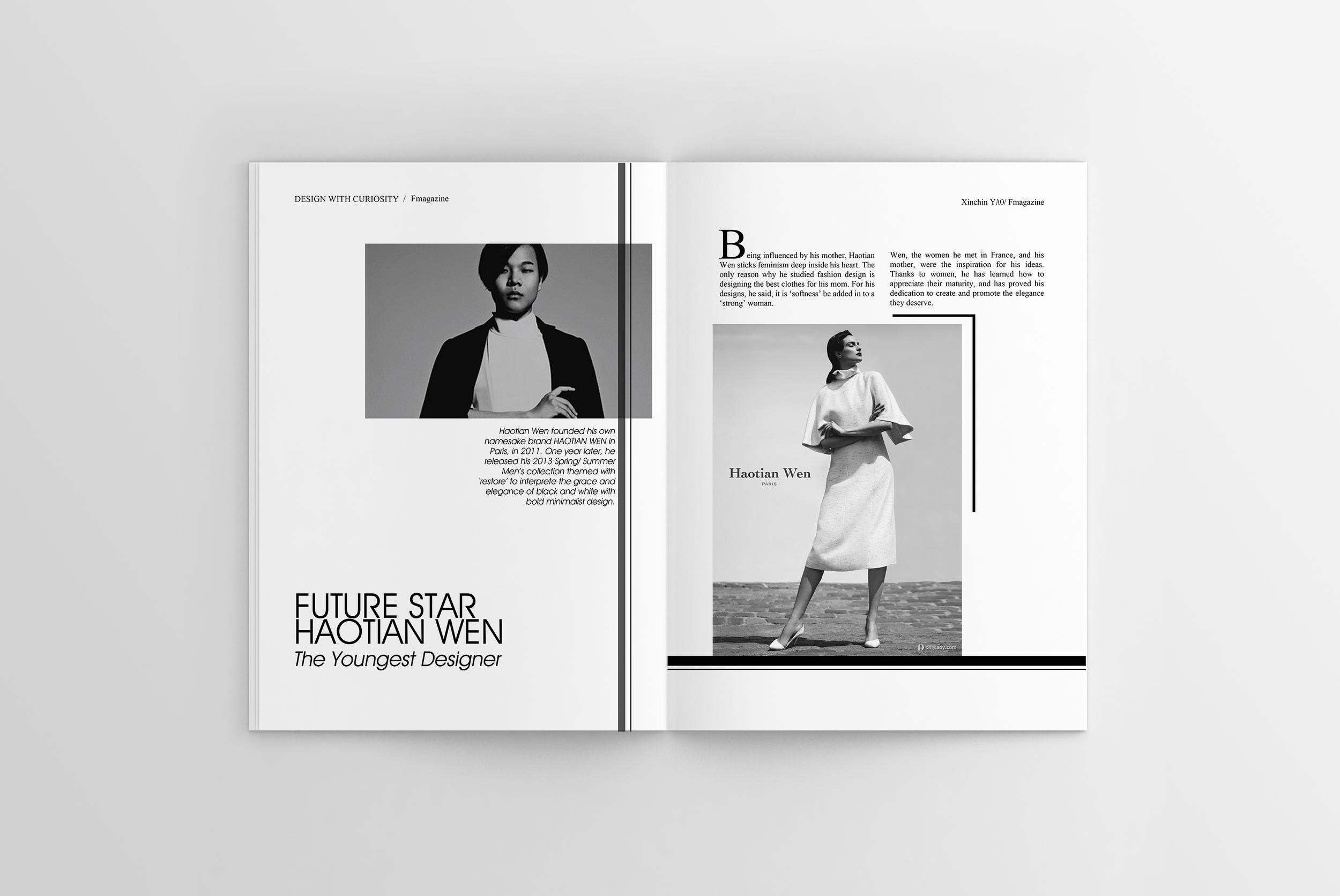 F Fashion Magazine Design And Journalism I M Audrey Yao