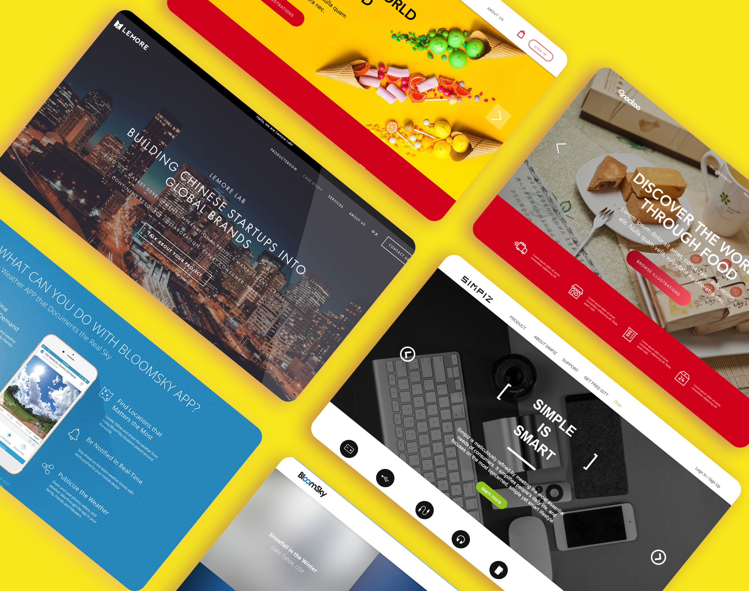 Website Design for Multiple products & companies — I' M AUDREY YAO