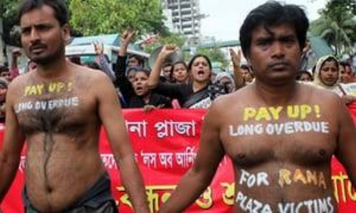 garments worker protest