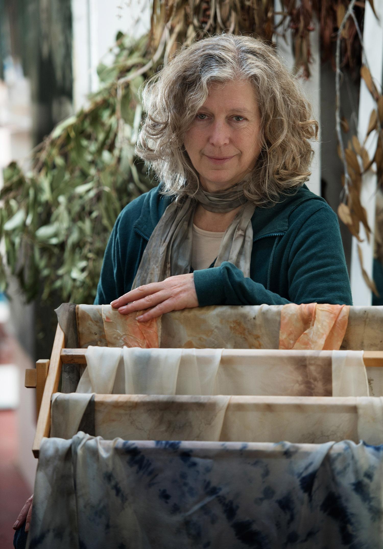 Elizabeth Milsom in her South Melbourne studio - Photograph by Susan Windmiller