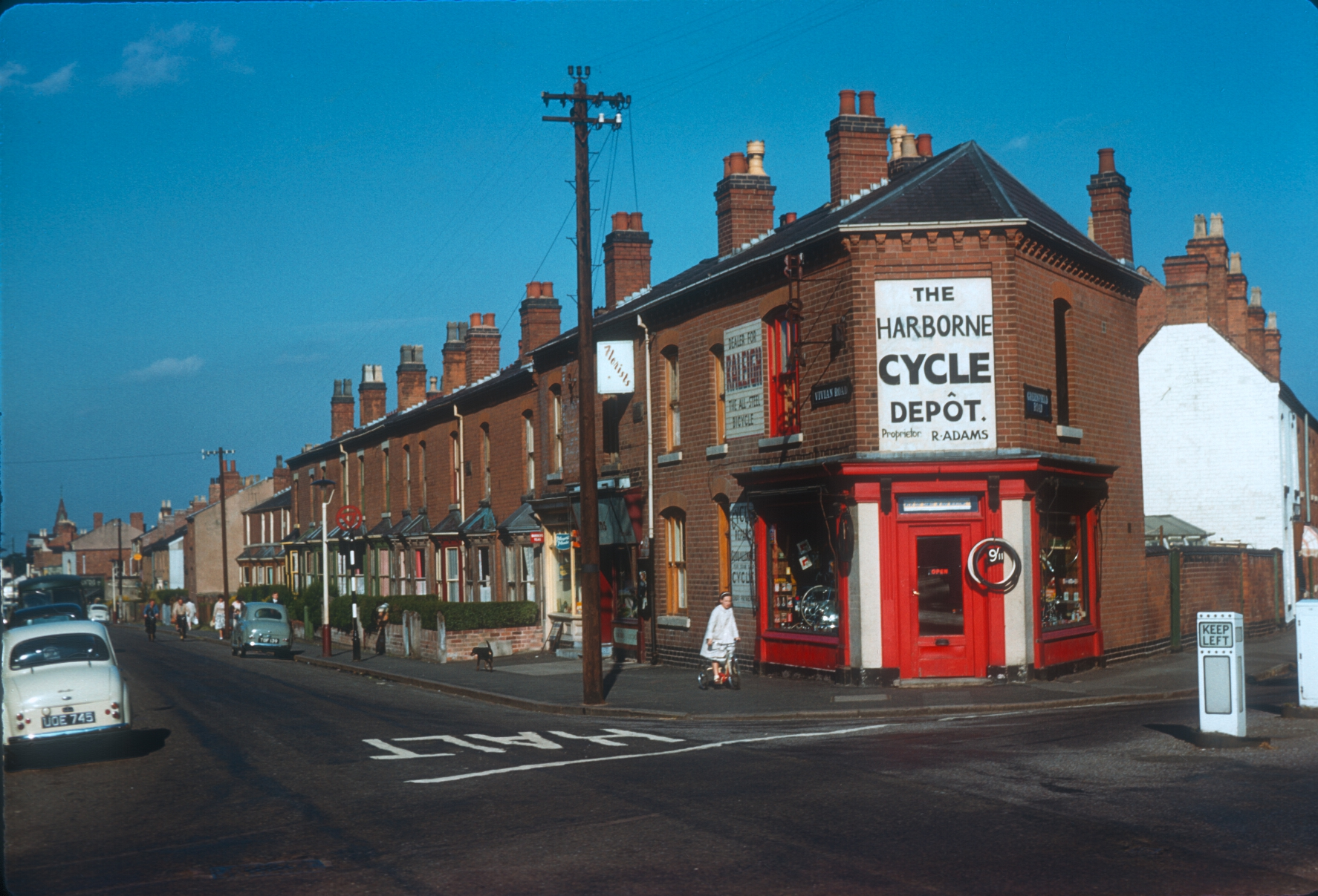 Harborne - Corner of Vivian Road. Greenfield Road to the right. 17th August 1961