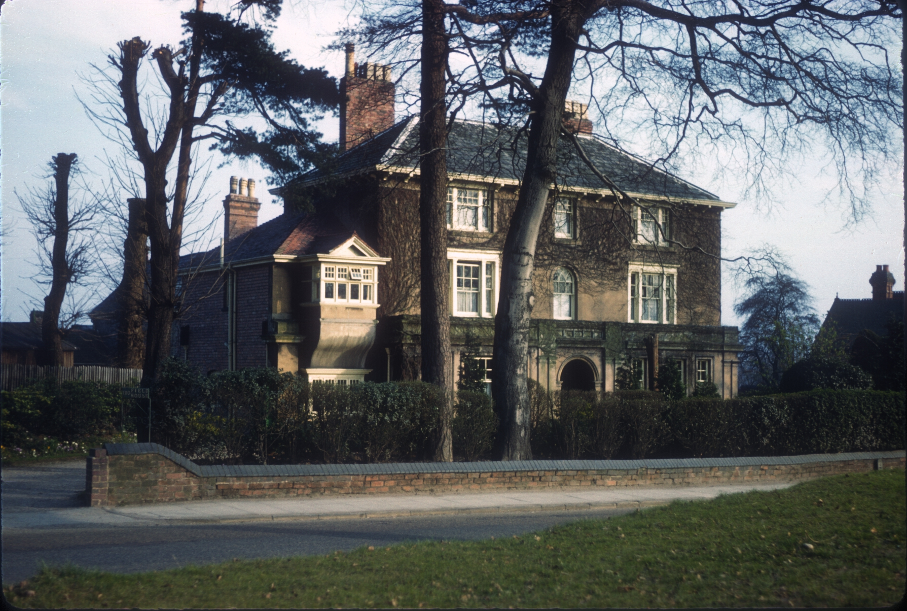 Harborne Field House, 110 Harborne Park Road, Corner of St Mary's Road. 6th March 1961