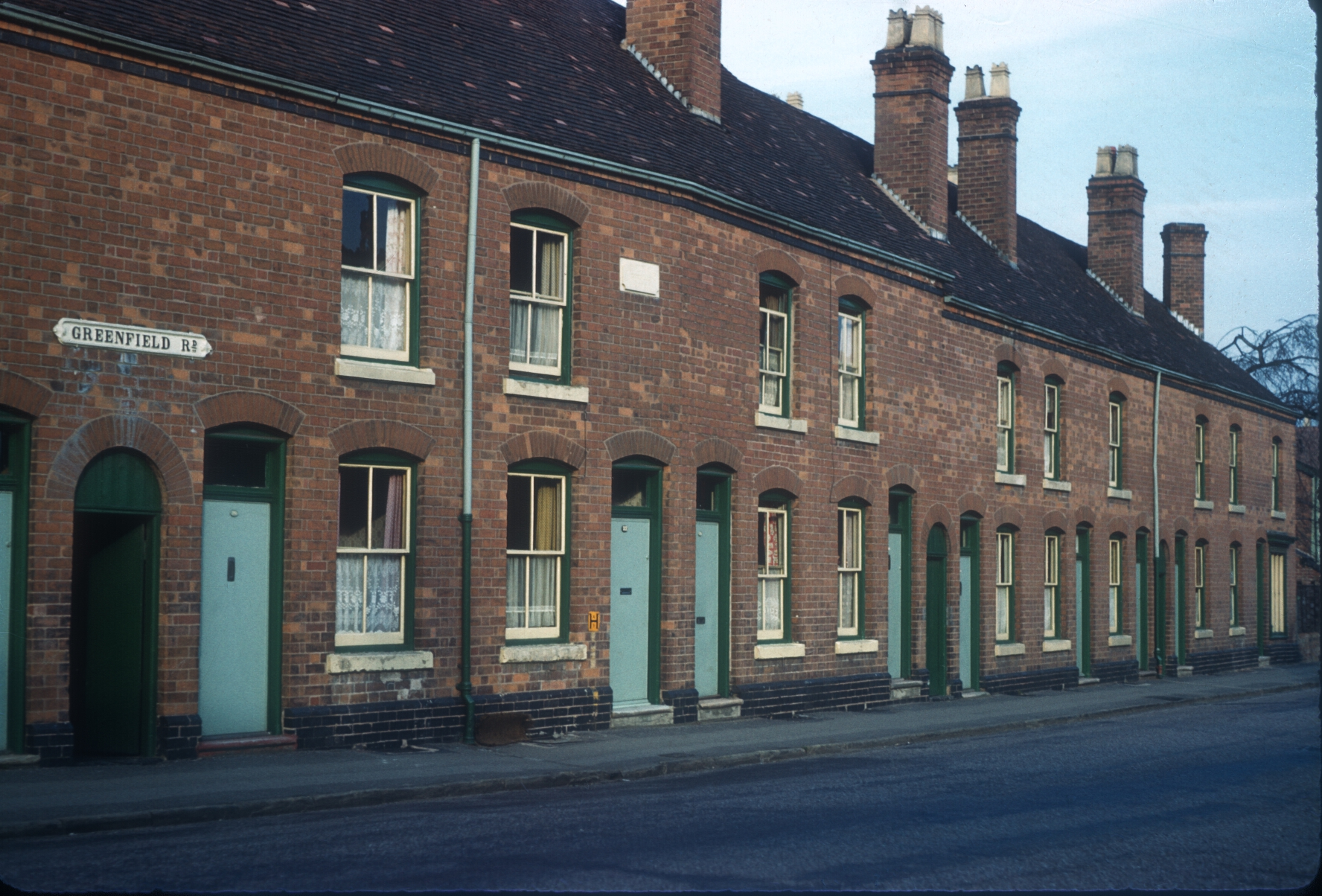 Harborne Greenfield Terrace in Greenfield Road (Opposite Margaret Road) 6th March 1961