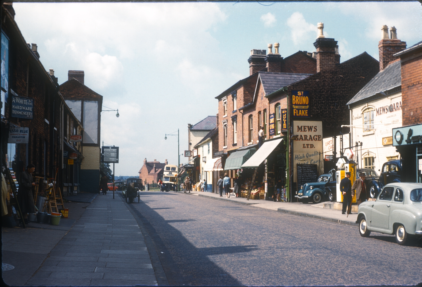 Harborne High Street - View Towards War Lane. 12th August 1960