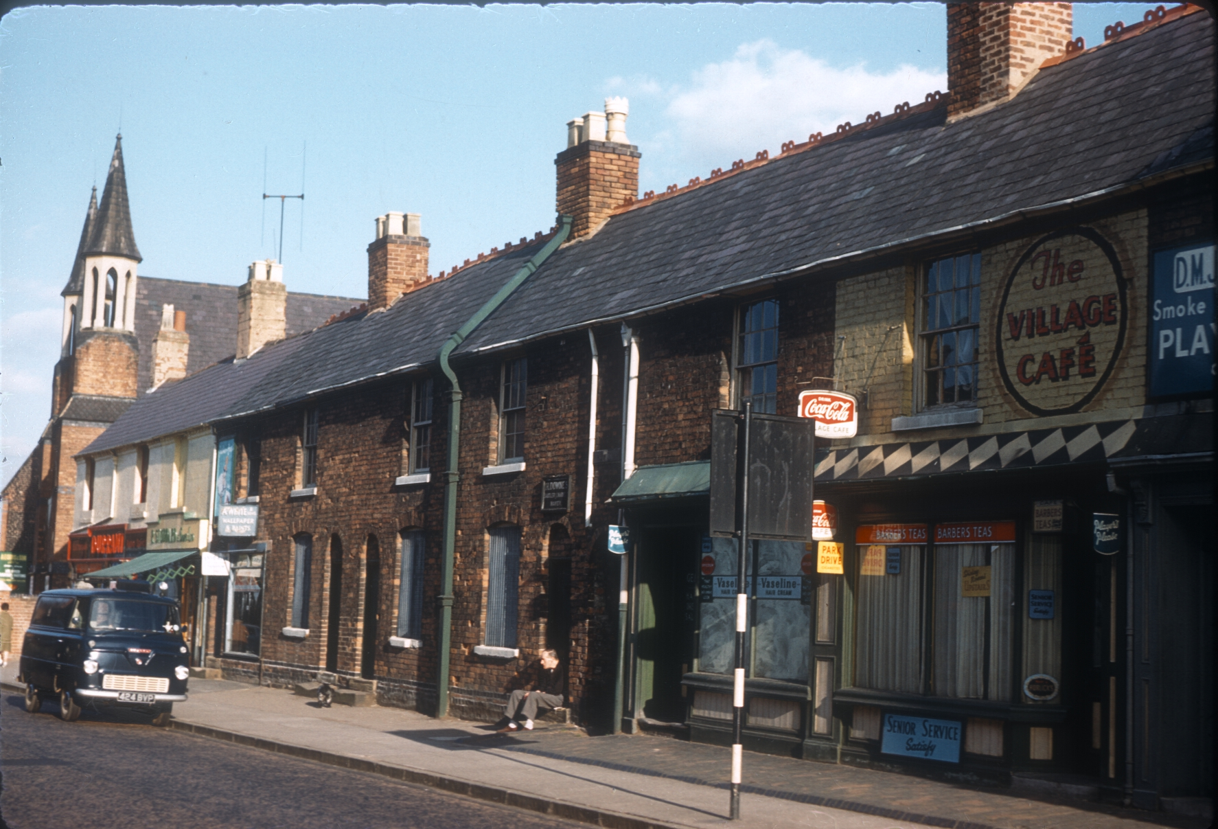 Harborne High Street. Terrace demolished 1962 (View towards Baptist Church) 12th August 1961