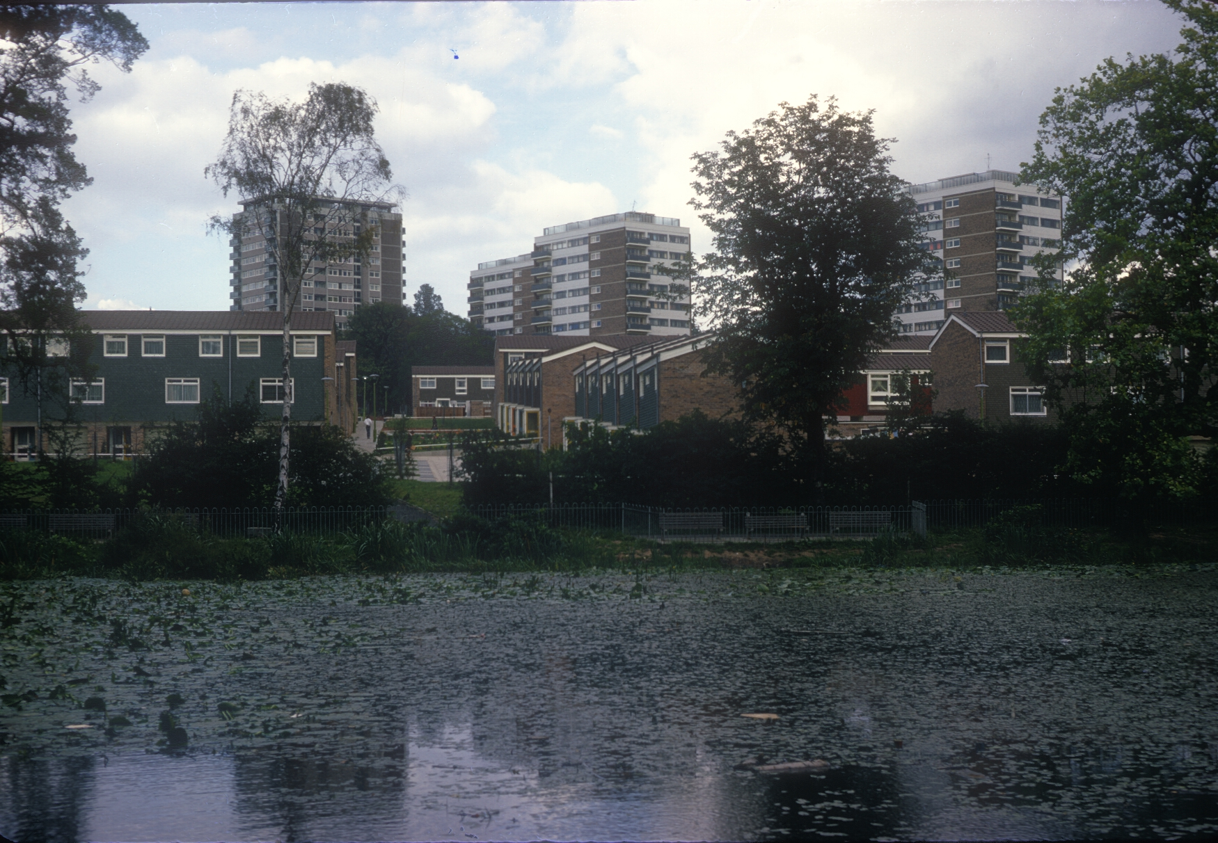 Harborne Metchley Grange Municipal Estate, Cross Farm and Pool. 6th September 1967