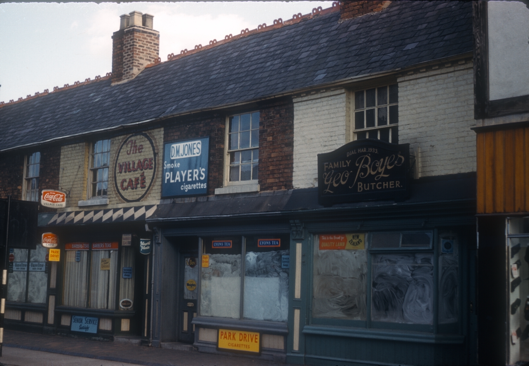 Harborne No 348 High Street, Geo Boyes Butcher. 12th August 1961