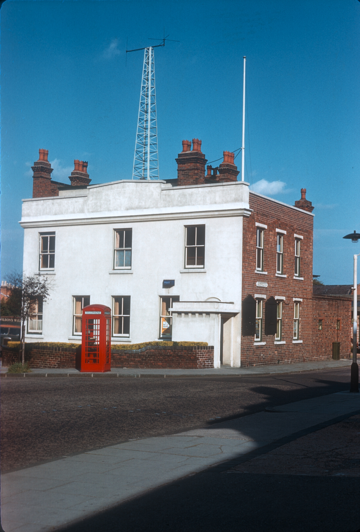 Harborne Police Station, High Street (Left), Greenfield Road (Right) 17th August 1961