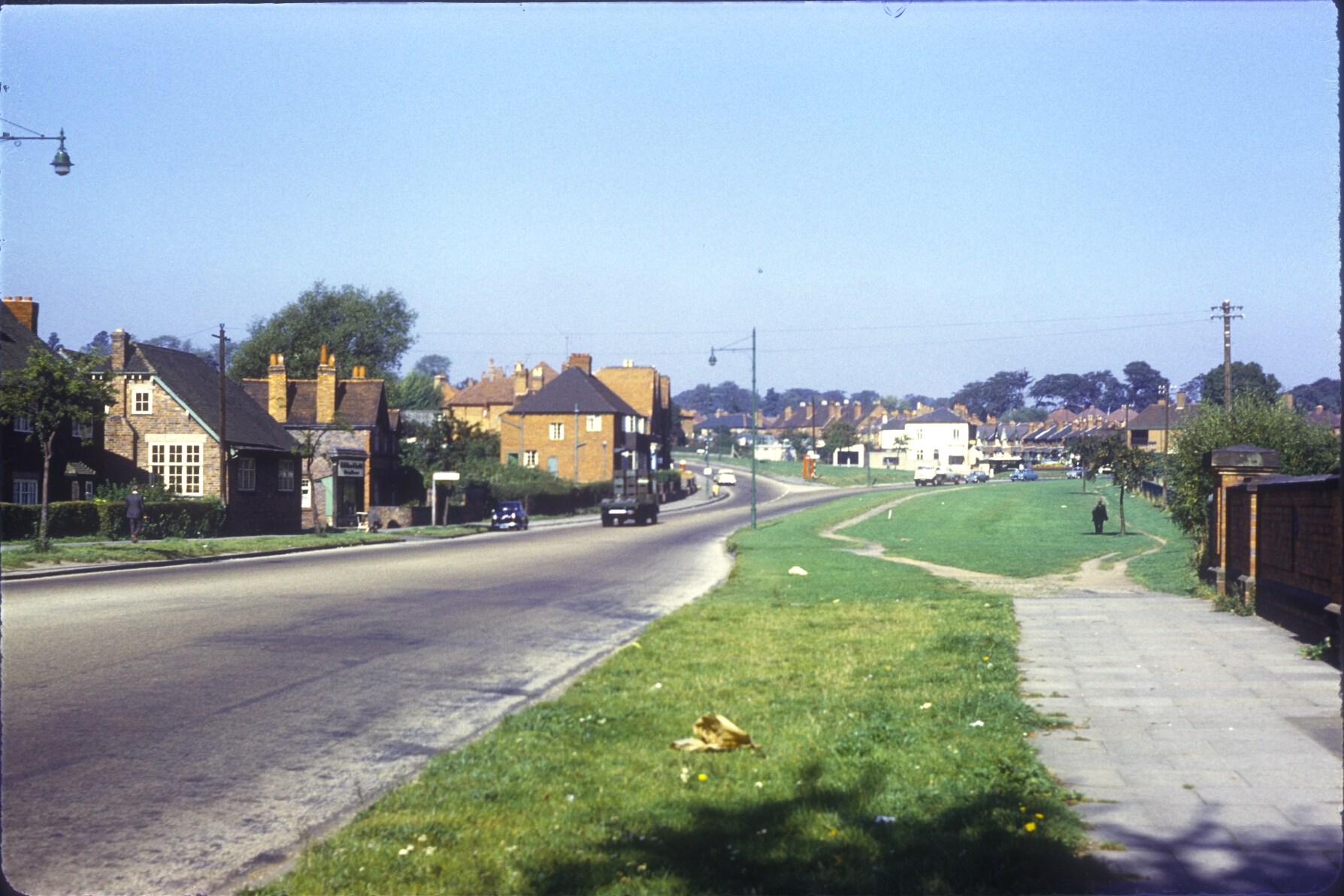 Harborne, Harborne Lane from Bourn Brook bridge. 25th September 1961