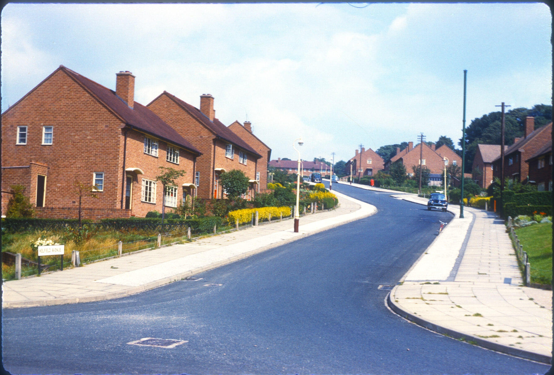 Harborne, Hillyfields Estate - Kelfield Avenue. 12th August 1960
