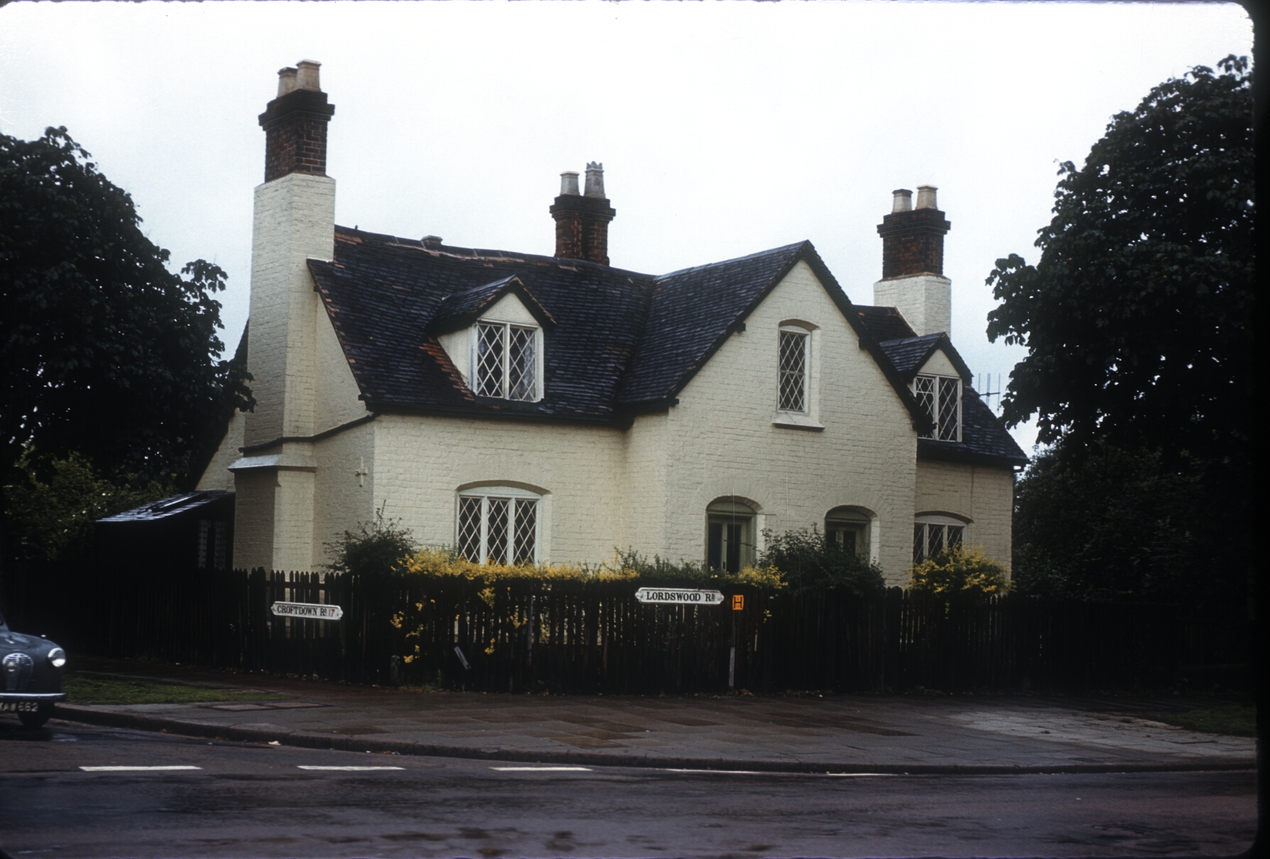 Harborne, Lordswood Rd - Old Cottages opposite the Old House at Home - Demolished 1962. 28th July 1960