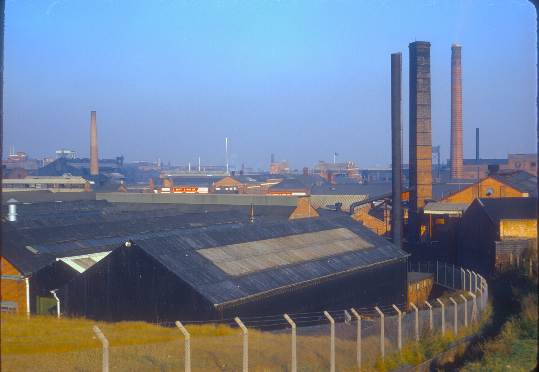 Ladywood Industrial area around Icknfield Port Rd from Rotton Park Reservoir Dam. 9th November 1968