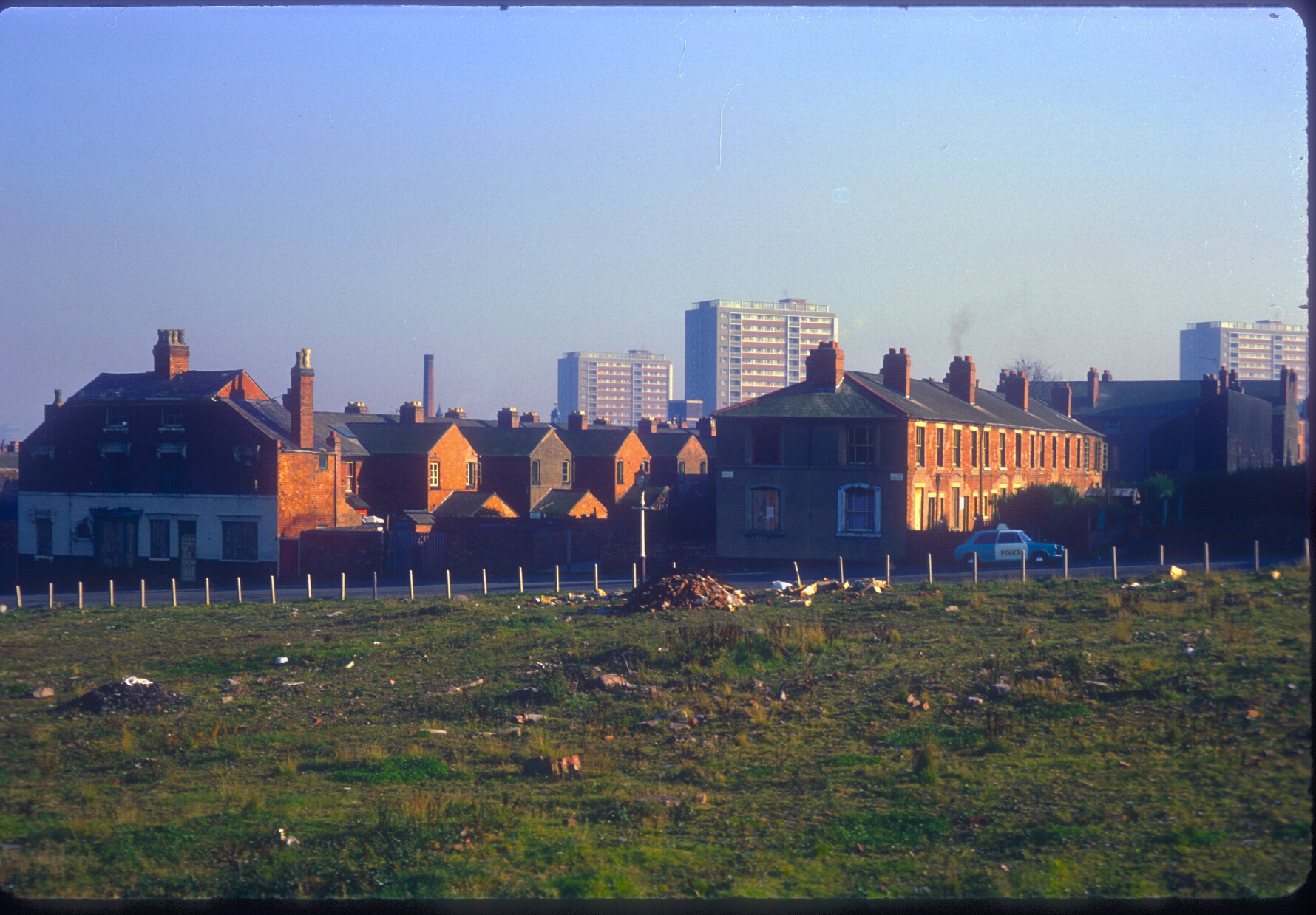 Ladywood old and new terraces - Osler St, Icknield Port Rd. View point from Rotton Park Reservoir Dam. 9th November 1968