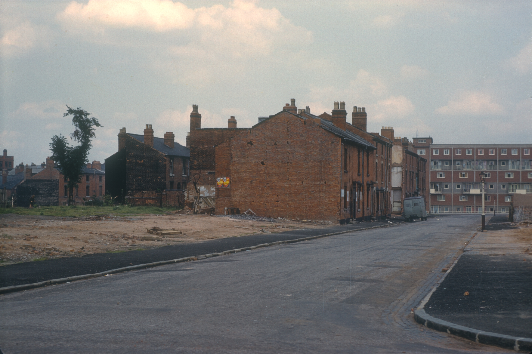 Ladywood redevelopment area - Demolition of 19th century houses with back courts. Rann st (View point corner of Gilby RdRann St) 10th August 1960