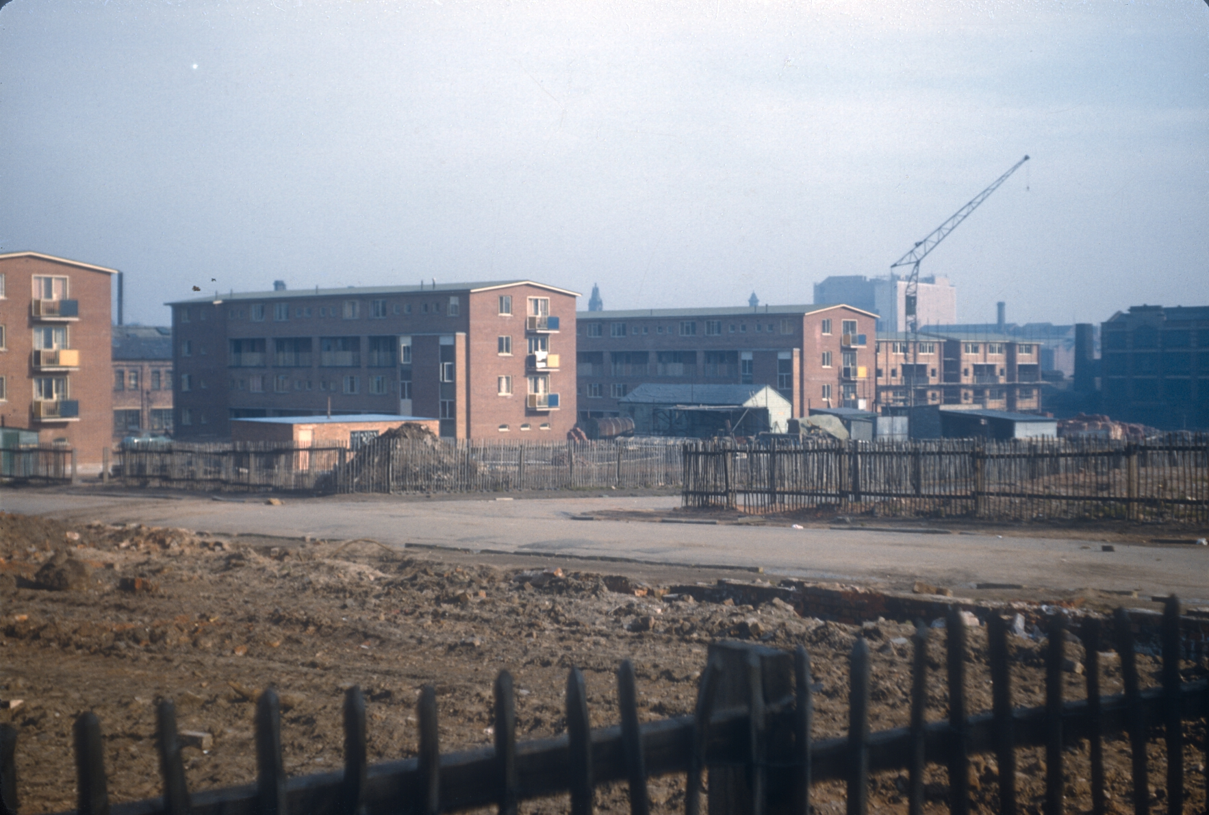 Ladywood redevelopment, maisonettes in Browning St. 2nd March 1957