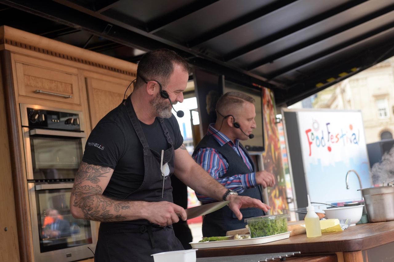 Glynn Purnell kitchen demo at Colmore Food Festival.jpg