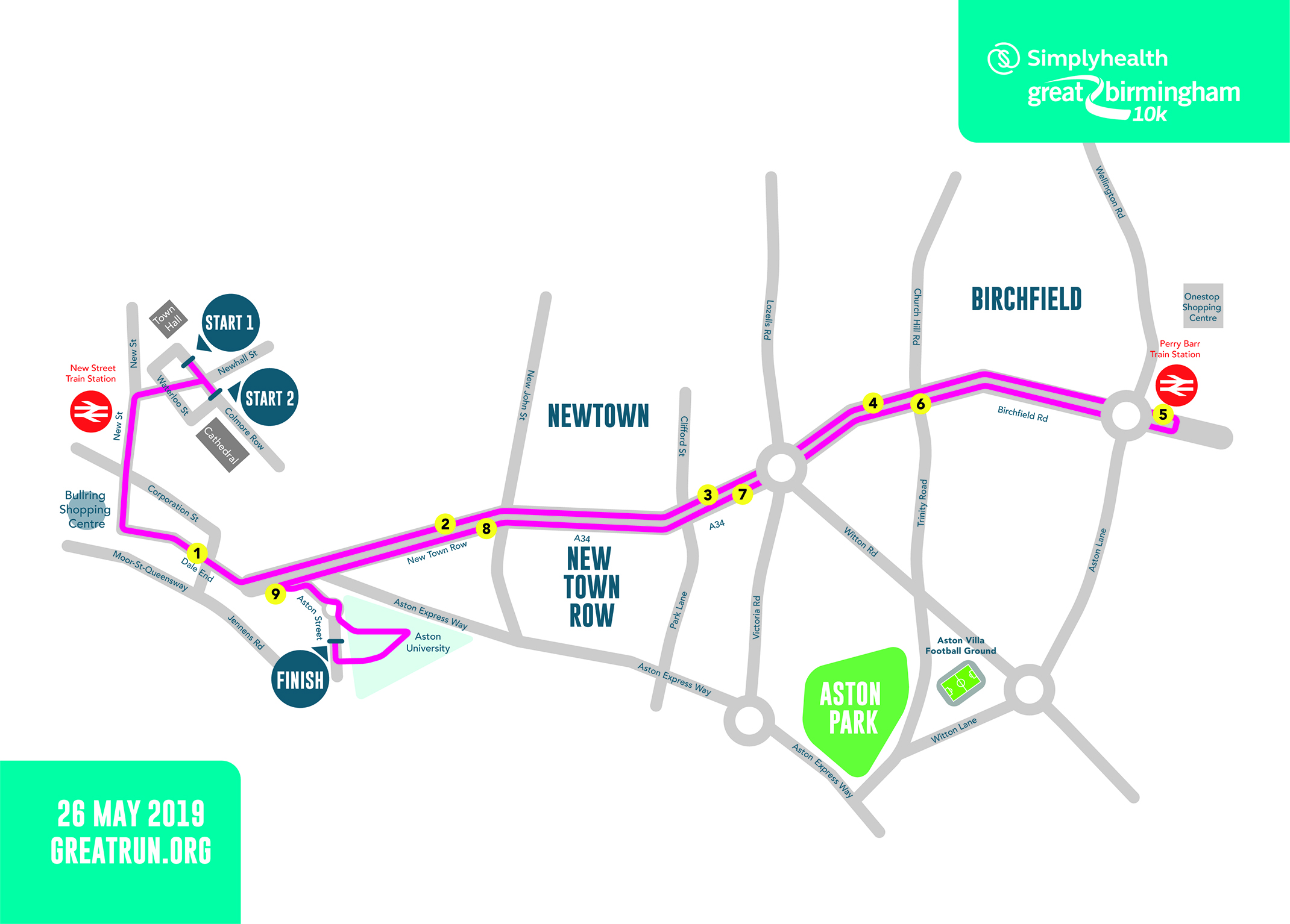 Simplyhealth Great Birmingham 10K route March 2019.jpg