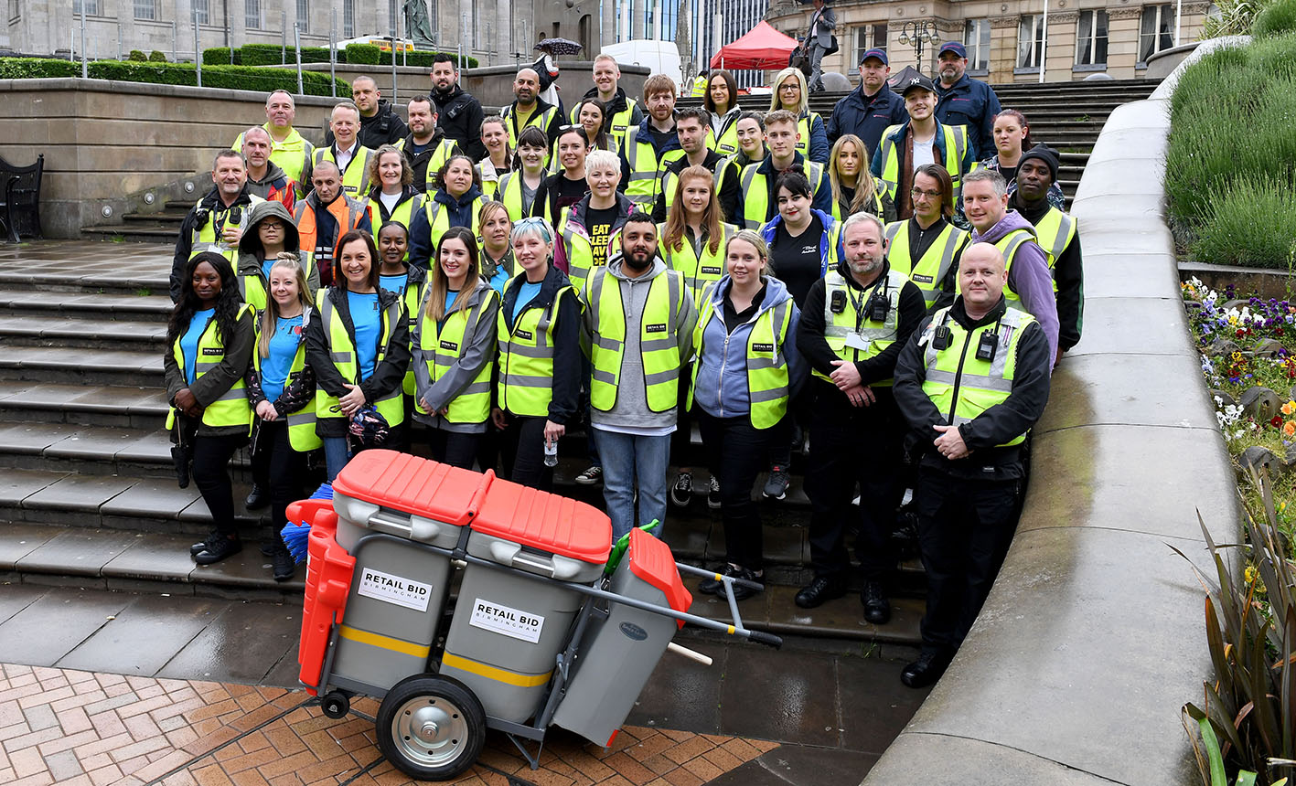 The litter-pick volunteers gather in Victoria Square before targeting streets across the city centre.jpg