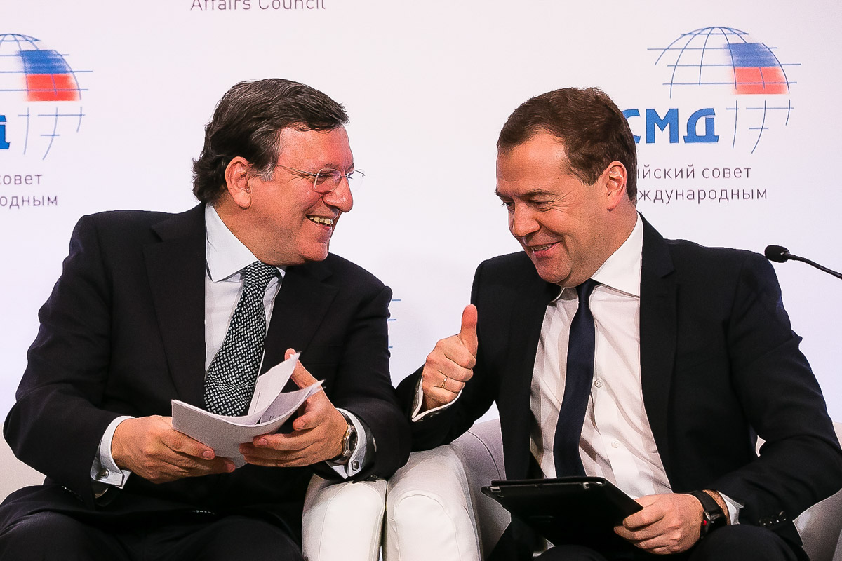 Dmitry Medvedev and José Manuel Barroso / EU