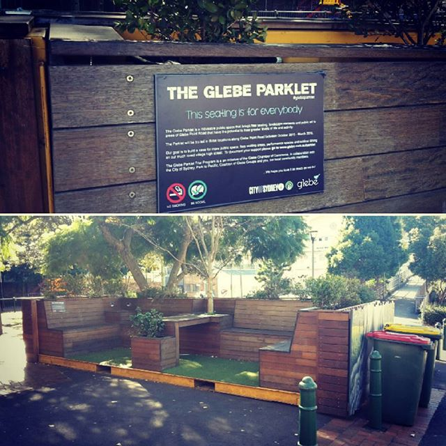 The Glebe Parklet Project has a gorgeous little community space for anyone to use, such a great idea! @cityofsydney #sustainability!  #green #open #friendly #community #greencities #greenliving #fun #streetcoolers #communityspace #beautiful #potd #city #glebe #sydney #australia #local #projects