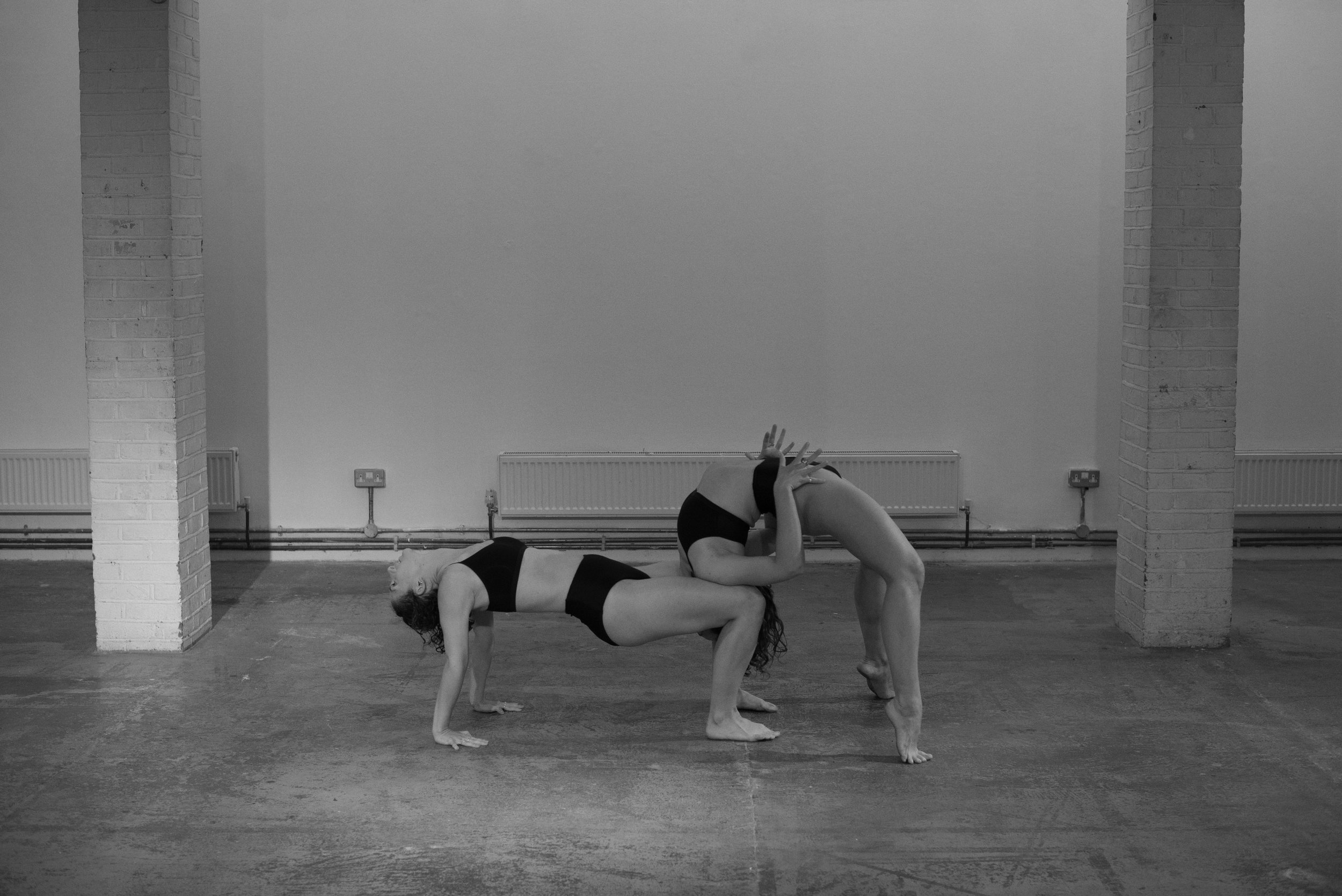 'Act 1, Part 2' by SISTA SISTA performed at Guest Projects, Art Night London: Curated by Cairo Clarke in response to Hannah Perry's 'Act 1, Part 1'. Image by Dave Blackburn. Dancers: Madison Capel-Bird & Lydia Buckler (2017)