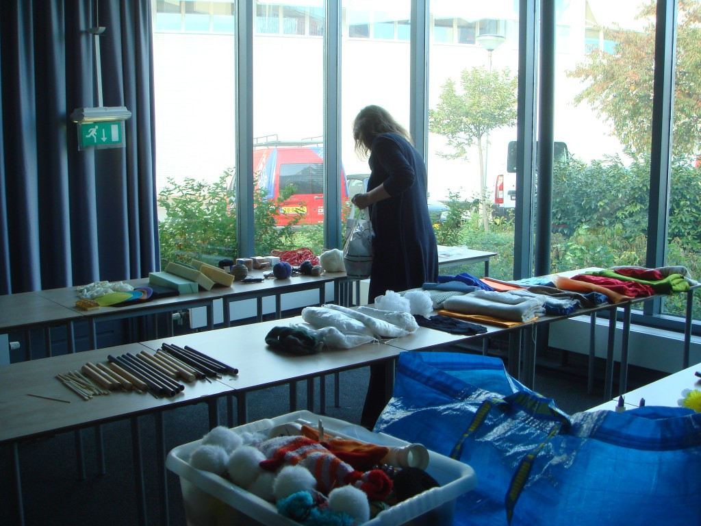 Preparations for the multi-sensory workshop