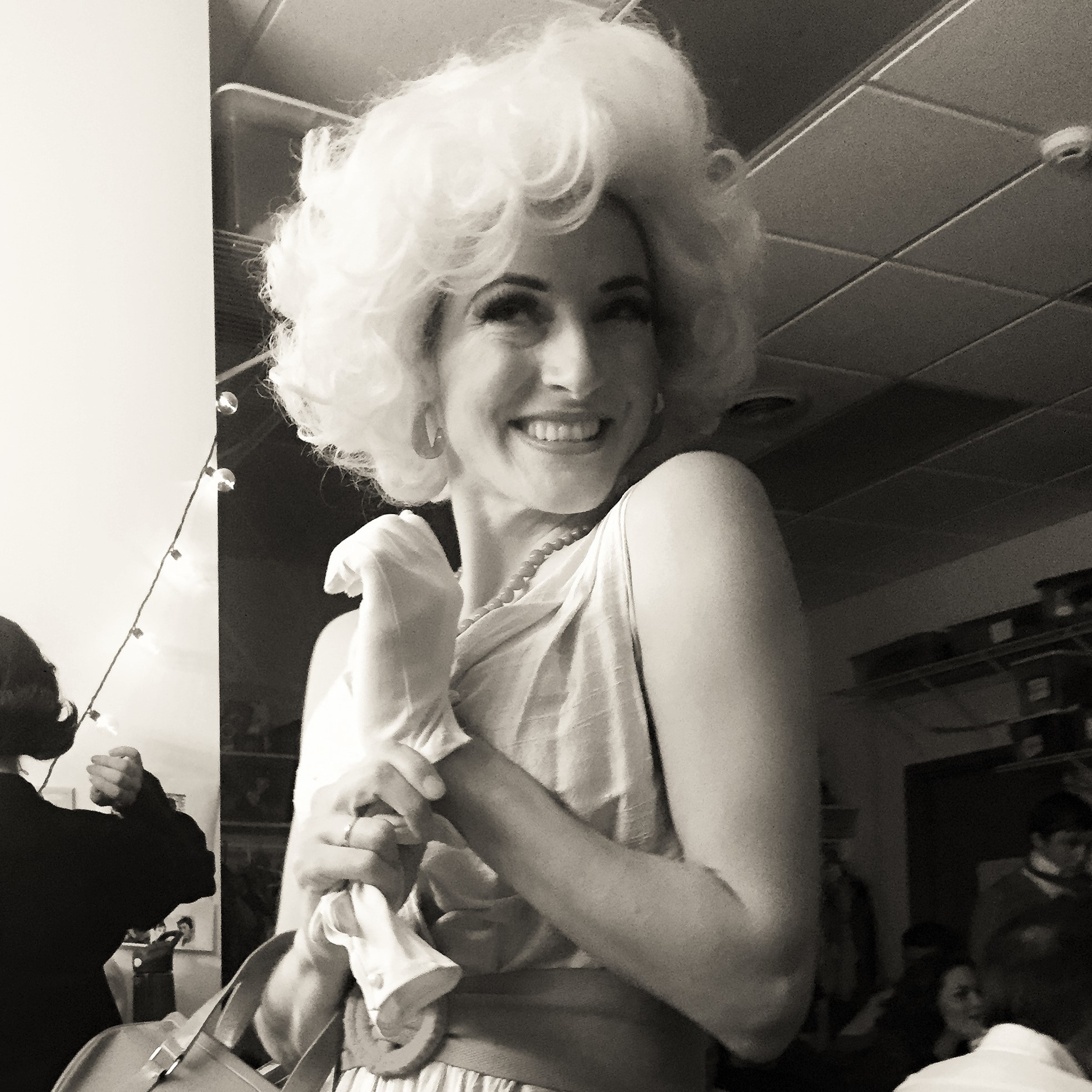 Me as Hedy Larue in How to Succeed in Business Without Really Trying. Serious question: Do I look like Marilyn Monroe, or more Rose Nylund from Golden Girls? Photo credit: Katie Bowers.