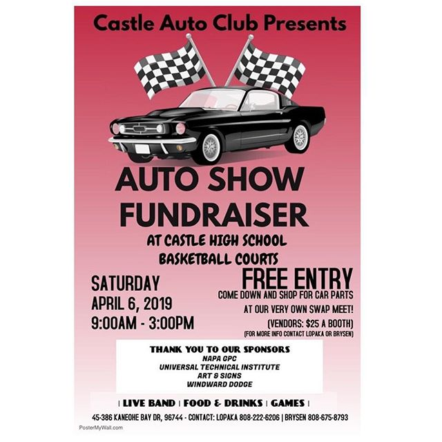 If you're free and have nothing to do, come and check out the Auto Show Fundraiser tomorrow!! There will be food trucks, live music, car parts, games, and we will be there with our SAFE Archery activities!! Hope to see you there! #chs #autoclub #hilife #archery #archerytag #hawaii