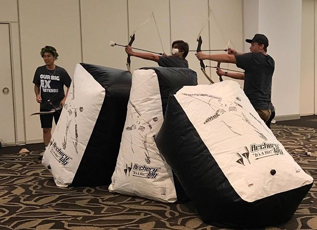 """Just 4 days late, but it is officially project graduation season 🥳 We can't wait to see what's in store for us this year and we hope to make an everlasting moment as the class of 2019 steps into the """"real world"""" 🎉 #archery #archerytag #archeryhawaii #instagood #photooftheday #picoftheday #friends #luckywelivehi #yelphawaii #havealohawilltravel #projectgrad #hischools #c/o2019"""