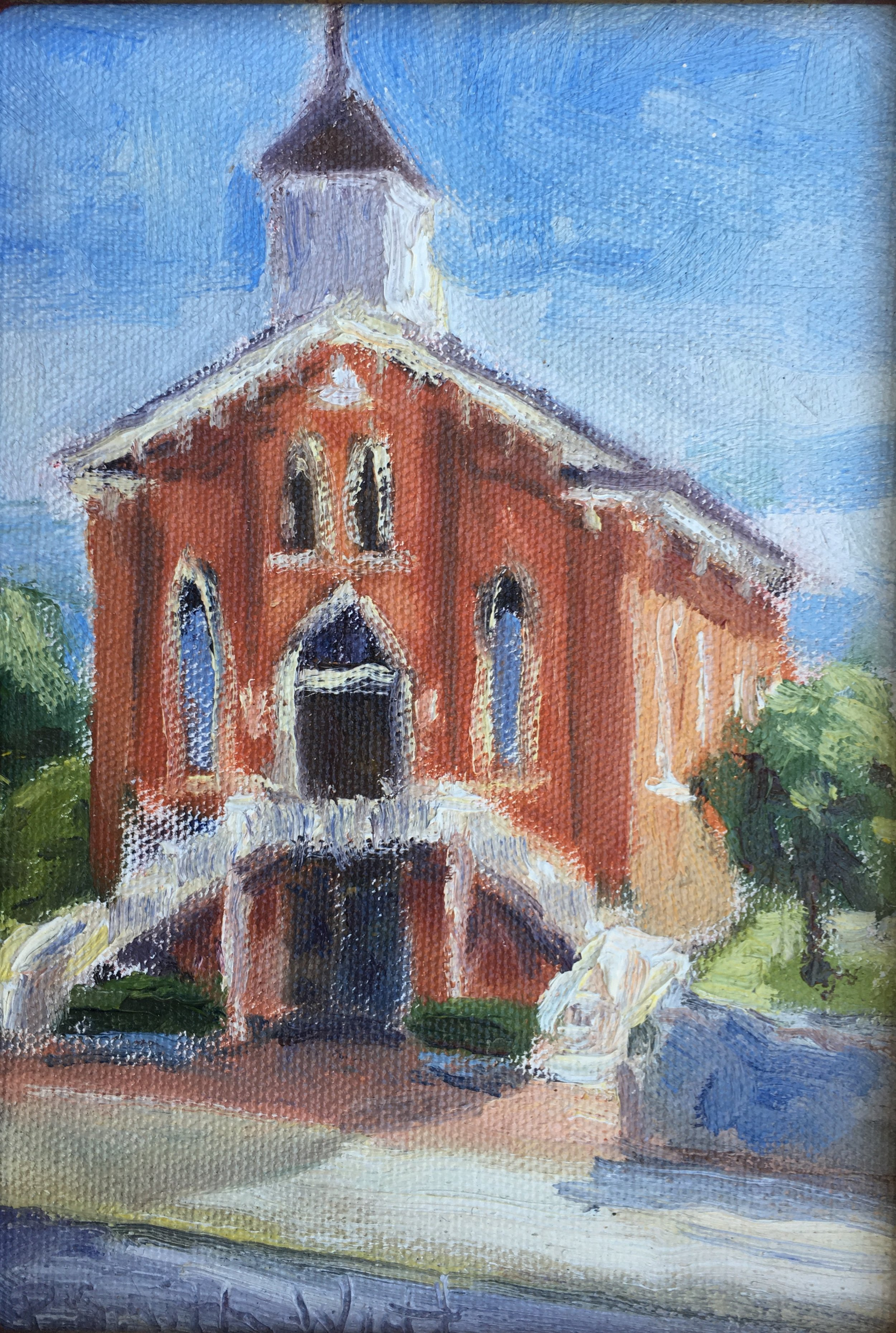 Dexter Avenue King Memorial Baptist Church, Montgomery, Alabama   oil on canvas