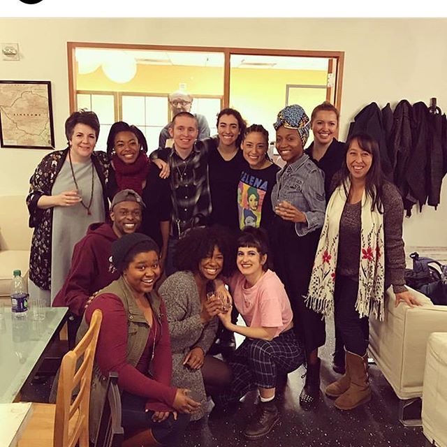 BLKS at @woollymammothtc 🧡 we closed a few weeks ago but they are always on my mind. this is the future of theater. this is theater now. this is vital art. i think every day of the love and heart and humor and courage of this group of artists. scroll 2x to read playwright Aziza Barnes' words about the show and then go see + support the NYC production in a few weeks friends. 📸: angel @princessdjacob 💎