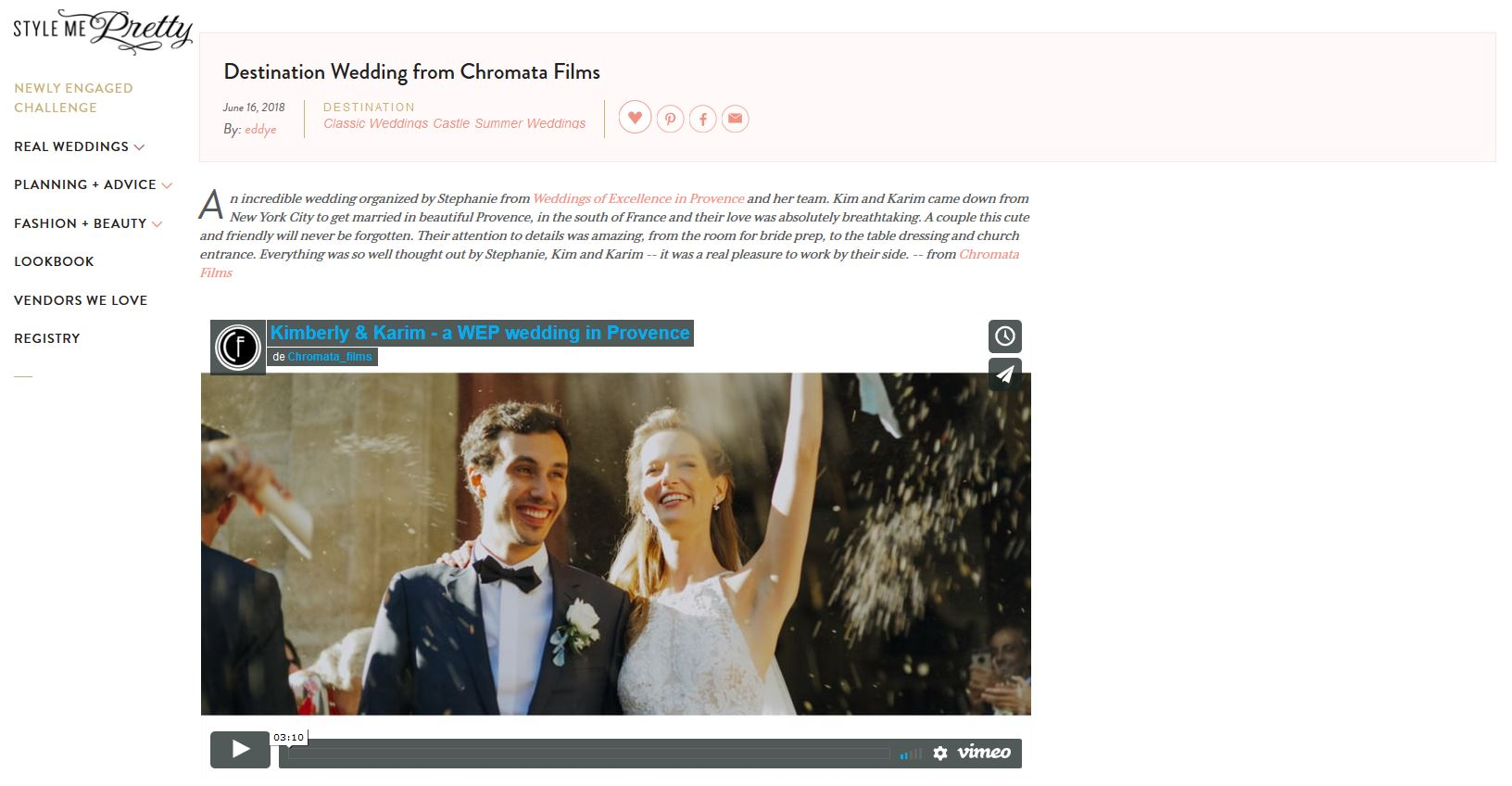 style me pretty publication chromata films