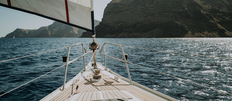 santorini wedding sail