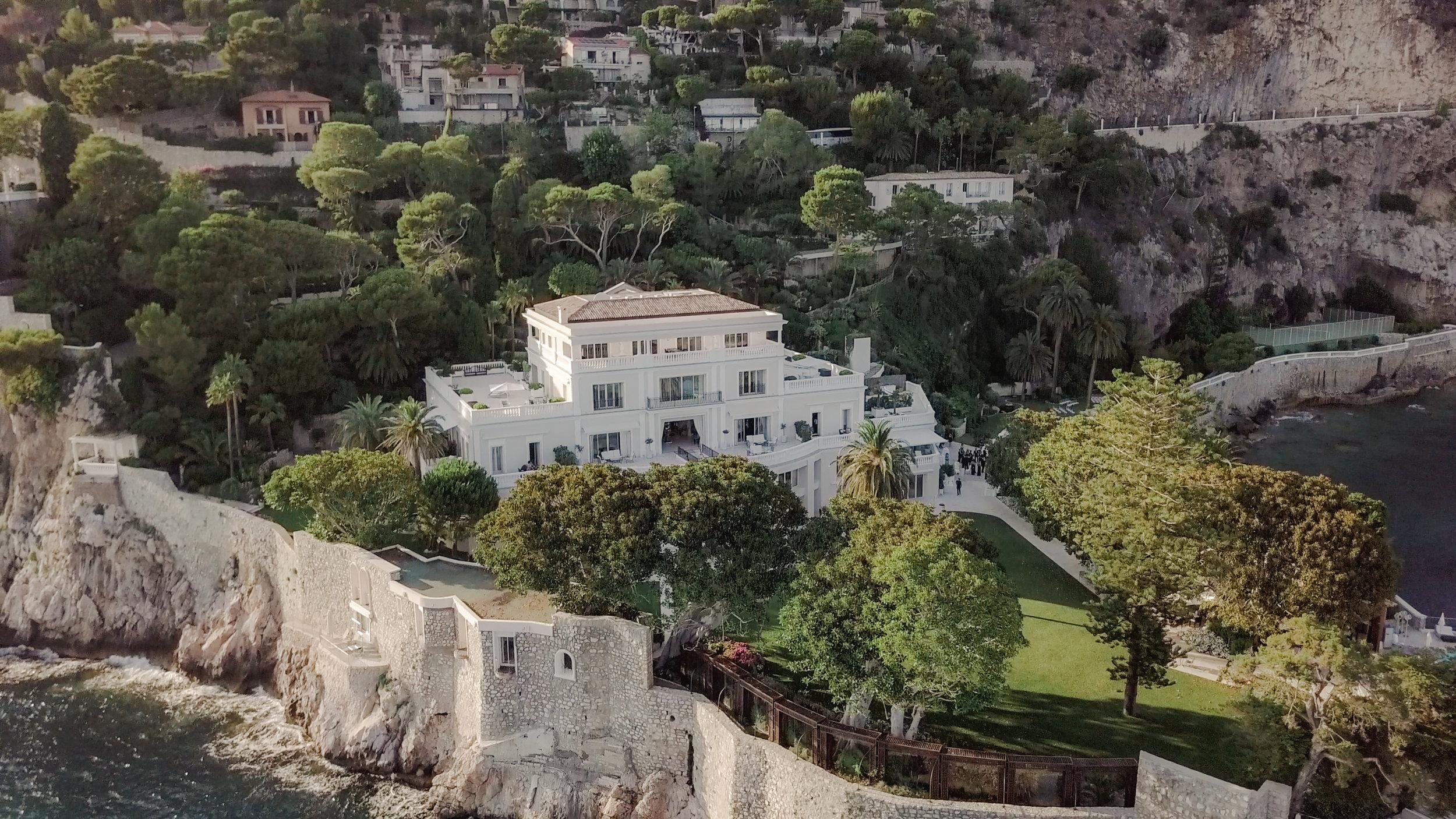 cap estel drone view luxury wedding