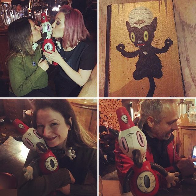 Had fun catching up with #garybaseman and Toby last night in London :) #artist
